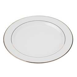 White-with-gold-rim-plate